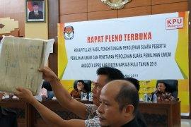 Hasil rapat pleno, PDI Perjuangan unggul di Kapuas Hulu dalam Pileg untuk DPR RI