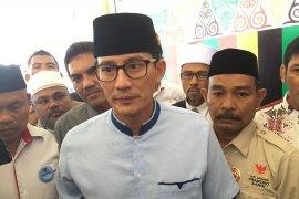 Sandiaga Uno sampaikan terima kasih pada masyarakat Aceh