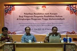 KPK menyelenggarakan pelatihan antikorupsi Perguruan Tinggi Muhammadiyah