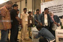 KPU Kota Malang rekapitulasi penghitungan suara empat kecamatan