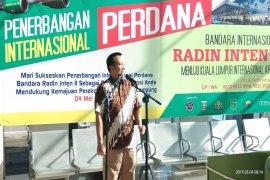 Ridho Ficardo Memimpin Penerbangan Perdana Internasional Lampung-Malaysia