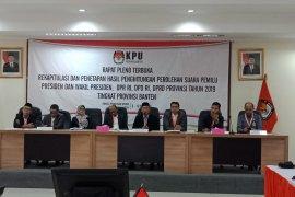 KPU Banten  rapat pleno rekapitulasi hasil Pemilu 2019
