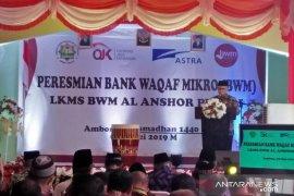 OJK resmikan bank wakaf mikro di Ambon