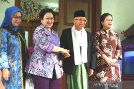 Mega terima kunjungan KH Ma'ruf Amin