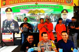 Polres Gianyar tangkap komplotan pencuri motor di Bali