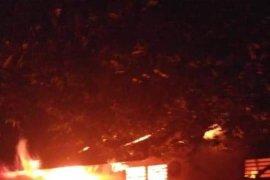 Empat ruangan SMA Persiapan Stabat terbakar akibat sambaran petir