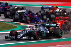 Pebalap Hamilton kembali ke puncak usai juarai GP Spanyol