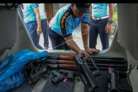 Pengumpulan senjata pascakerusuhan lapas Siak