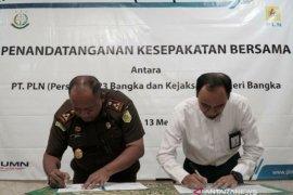 Perkuat koordinasi, PLN UP3 Bangka tandatangani MoU dengan Kejari Bangka