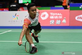 Anthony Ginting pastikan kemenangan Indonesia atas Inggris di Sudirman Cup 2019