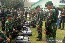 Personel Korem 042/Garuda Putih disiagakan untuk pengamanan penetapan hasil Pemilu