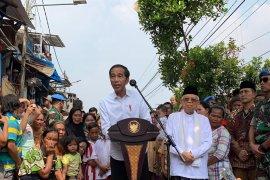Jokowi umumkan kemenangan