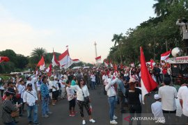 Massa aksi di kawasan Patung Kuda Jakpus bubarkan diri