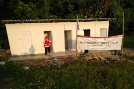 PMI bangun toilet permanen di lokasi terdampak tsunami Selat Sunda