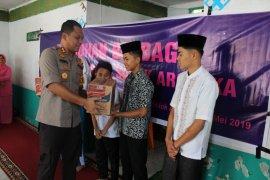 Polres Solok berbagi sembako dengan anak yatim di Panti Asuhan Bukik Kili