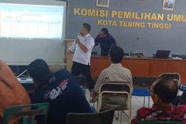 KPU Tebing Tinggi bimtek penetapan calon terpilih Pemilu 2019