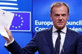 """Presiden Dewan Eropa nilai Brexit sebagai """"vaksin"""" melawan """"Euroskeptisisme""""."""