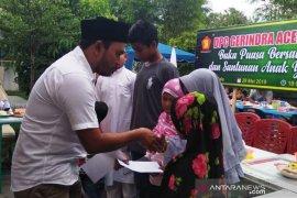 Gerindra Aceh Barat santuni yatim