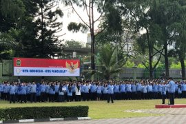 Puluhan ASN pemudik ikuti upacara Pancasila di Yogyakarta