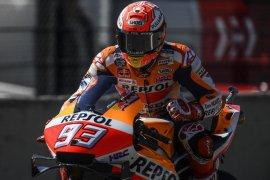 Marquez kenakan helm edisi spesial di Catalunya