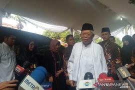 Maruf Amin sambangi Cikeas melayat Ani Yudhoyono