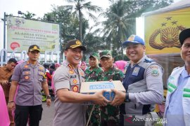 Kapolresta Tangerang berikan logistik pada petugas pengamanan Lebaran