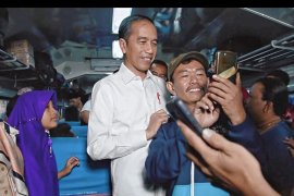 Presiden Joko Widodo kumpul bersama keluarga di malam takbiran