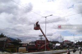 53 titik lampu median jalan di Rejang Lebong rusak