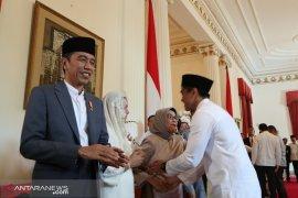 Presiden Jokowi berlebaran di Jakarta tanpa cucu
