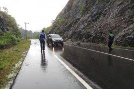 Longsor terjadi di lintas nasional di Aceh Besar