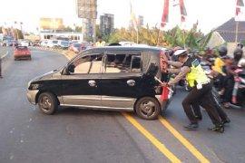 Polisi: Arus lalu lintas di Mengkreng padat