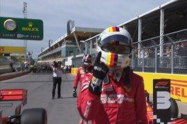 """Tercepat di Kanada, Vettel amankan """"pole position"""" Ferrari"""