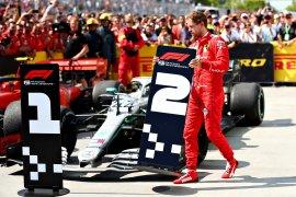 FIA tolak permintaan Ferrari untuk meninjau ulang penalti Vettel