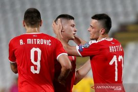 Serbia petik kemenangan pertama di kualifikasi Piala Eropa