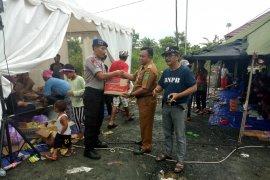 Satpolairud Tanbu pasok sembako di posko bencana banjir