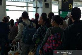 H+6 arus balik di Bandara Internasional  Kualanamu berkurang
