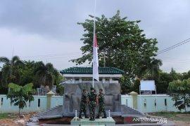 Mantan Kasad wafat, Kodim 0209/LB kibarkan bendera Merah-Putih setengah tiang