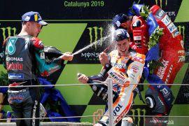 Hasil lengkap GP Catalunya, Marquez juara dikala rival bertumbangan