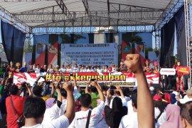Warga Sidoarjo  antusias ikuti deklarasi tolak kerusuhan