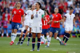 Amerika Serikat susul Swedia ke 16 besar Piala Dunia Putri setelah menang 3-0 atas Chile