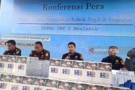 Bea Cukai Meulaboh Aceh amankan 4,3 juta rokok ilegal  selama 2019