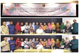 Dinas PP dan PA Lampung Dukung Komitmen Gubernur Arinal dan Wagub Chusnunia