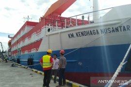 Kapal kontainer tol laut berlabuh perdana di Pelabuhan Gunungsitoli