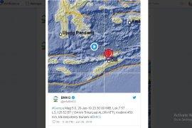 Gempa 5,0 SR guncang Alor, NTT
