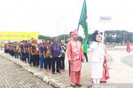 """Pembukaan Porprovsu, Kontingen Tanjungbalai kenakan """"Batik Kito"""""""