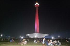 Kawasan HI padat, warga Jakarta pilih rayakan HUT Jakarta di Monas