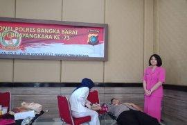 Polres Bangka Barat gelar donor darah HUT Bhayangkara