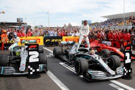 Hamilton juara di Prancis, Bottas tahan Leclerc jadi runner-up