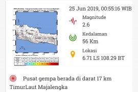 Gempa Magnitudo 2,6 melanda Majalengka, Jabar