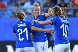 Tundukkan China 2-0, Italia lolos ke perempat final Piala Dunia Putri